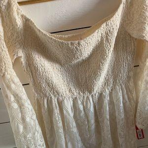Xhilaration Dresses - Off white off the shoulder boho dress